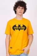Camiseta Masculina Batman O Mundo Logo