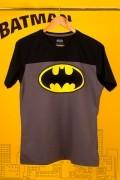 Camiseta Masculina Bicolor Batman Logo