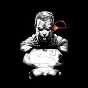 Camiseta Masculina de Manga Longa Superman Raio X Vision