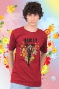 Camiseta Masculina Esquadrão Suicida Arlequina Flowers