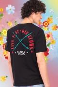 Camiseta Masculina Esquadrão Suicida Live Fast Arlequina