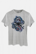 Camiseta Masculina Liga da Justiça Snyder Cut - Cyborg Face