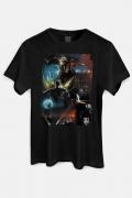 Camiseta Masculina Liga da Justiça Snyder Cut - Steppenwolf Em Ação