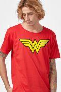 Camiseta Masculina Mulher Maravilha Logo