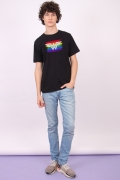Camiseta Masculina Mulher Maravilha Logo Pride