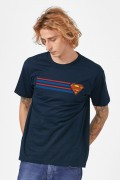 Camiseta Masculina Superman Stripes