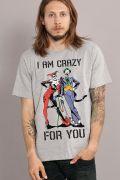 Camiseta Masculina Coringa e Harley Quinn I am Crazy for You