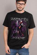 Camiseta Masculina Coringa e Harley Quinn Partners in Crime