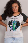 Camiseta Raglan Feminina Batman e Catwoman You're Purr-fect