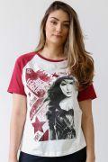 Camiseta Raglan Feminina Justice League Wonder Woman