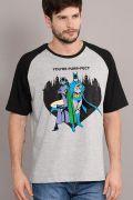 Camiseta Raglan Masculina Batman e Catwoman You're Purr-fect