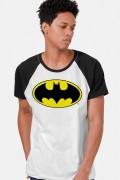 NÃO ATIVAR Camiseta Raglan Masculina Batman Logo Clássico