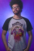 Camiseta Raglan Masculina Coringa Arkham Asylum