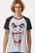 NÃO ATIVAR Camiseta Raglan Masculina Coringa Sorriso