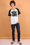 Camiseta Raglan Masculina Esquadrão Suicida Starro The Conqueror