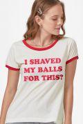 NÃO ATIVAR Camiseta Ringer Feminina Birds of Prey I Shaved My Balls for This? - Aves de Rapina