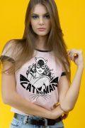 Camiseta Ringer Feminina Catwoman