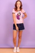 Camiseta Ringer Feminina Estelar Pose