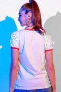 Camiseta Ringer Feminina Fandome Mulher Maravilha Pop Art