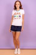 Camiseta Ringer Feminina GRL PWR