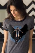 Camiseta Ringer Feminina Jovens Titãs Ravena