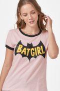 Camiseta Ringer Feminina Logo Batgirl