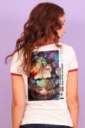 Camiseta Ringer Feminina Logo Pride