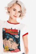 Camiseta Ringer Feminina Lois e Clark Romance e Trabalho