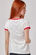 Camiseta Ringer Feminina Mulher Maravilha Poderosa