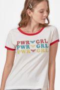 Camiseta Ringer Feminina Power Girl