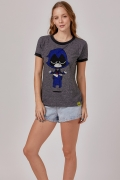 Camiseta Ringer Feminina Ravena Meditando