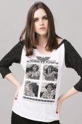 Camiseta Manga Longa Feminina Mulher Maravilha Powerful