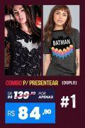 Combo 2 Camisetas Femininas Batman #1