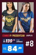 Combo 2 Camisetas Femininas Mulher Maravilha BF