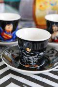 Conjunto 9 peças Xícara Café Liga da Justiça Characters