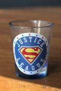 Conjunto com 4 Shots de Vidro Liga da Justiça Logos