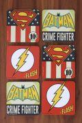 Conjunto de Porta Copos DC Originals Logos Vintage