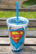 Copo Com Tampa e Canudo Superman Opening