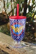 Copo Taça Wonder Woman Logo and Stars