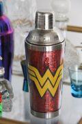 Coqueteleira de Metal Wonder Woman Glitter