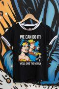 Camiseta Ringer Feminina Power Girls We Can Do It!