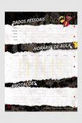 Caderno The Flash Logo Retrô 10 Matérias