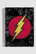 Caderno The Flash Logo Retrô 1 Matéria