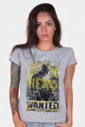 Camiseta Feminina Batman VS Superman Hero Wanted