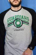 Camiseta Manga Longa Raglan Masculina Lanterna Verde Guardians Athletics