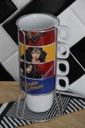 Jogo de Xícara Cappuccino com 5 peças Wonder Woman