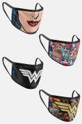 Kit com 4 Máscaras Mulher Maravilha