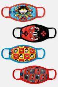 Kit com 4 Máscaras Pequenas Super Heroínas