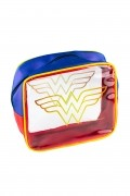 Kit de Necessaires Mulher Maravilha Core Gold Logo