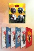 Kit Esquadrão Suicida Buttons Faces + Cards